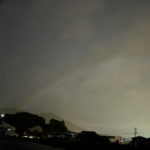 珍しい大気光学現象、月虹 moonbow の写真