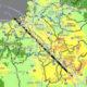 福岡の警固断層地震動の予測地図を Google マップに重ねてみた